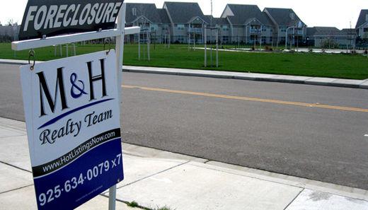 Sharp rise in foreclosure notices