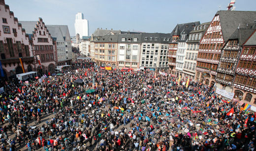 Blockupy movement blossoms in Frankfurt
