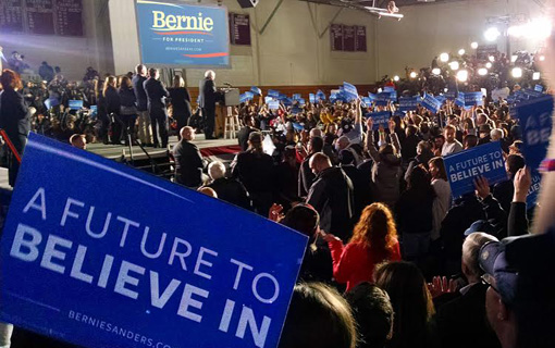 "Sanders' ""political revolution"" wins in New Hampshire primary"