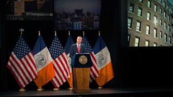 NY Mayor de Blasio addresses the State of the City