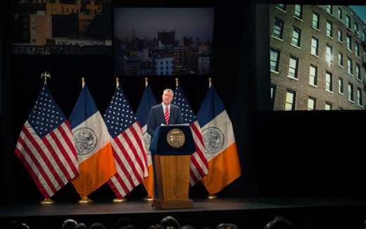 NY Mayor de Blasio addresses the State of the City