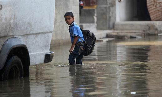 Sewage overruns Gaza