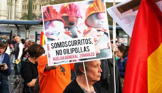 Spaniards in mega-strike over labor reforms