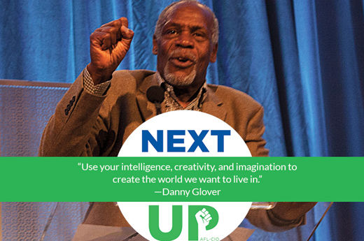 Danny Glover tells young unionists they are making history