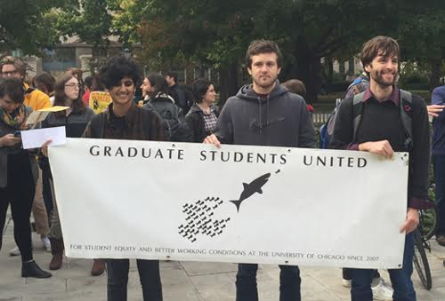 Graduate students at private universities rally for union rights