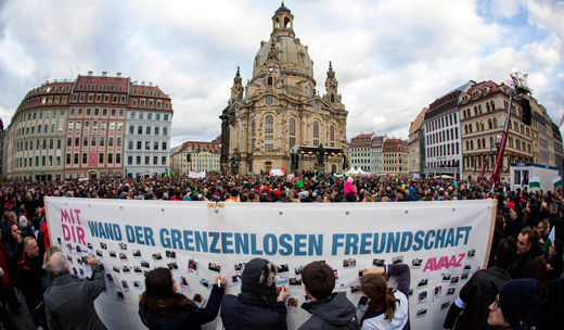 Germany today: People challenging new right extremists