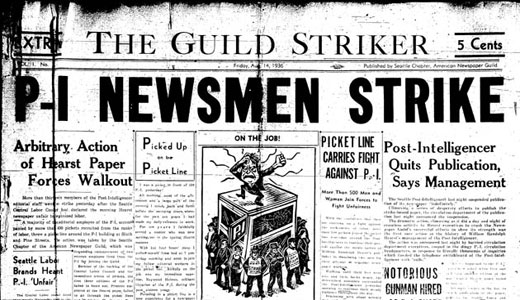 Today in labor history: Seattle Post-Intelligencer strike takes place