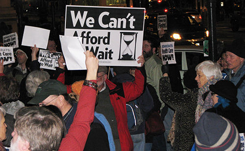Rallies demand strong health care bill