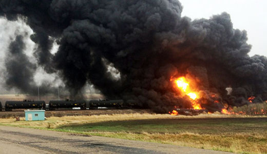 """No more bomb trains"": environmental groups sue over weak regulations"