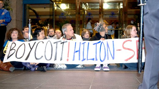 Law professors support Hilton workers