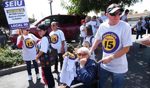 Unions make LA ground zero for raise the wage movement