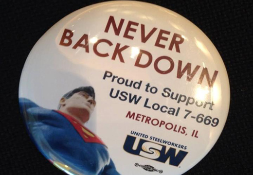Locked-out workers from Superman's town go to D.C.