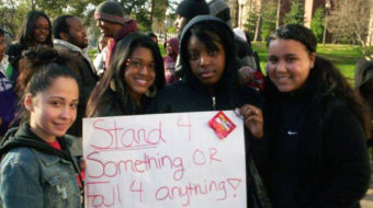 Bloomsburg University students call for justice for Trayvon