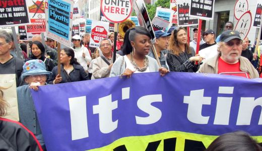 Hotel workers animate San Francisco's Labor Day