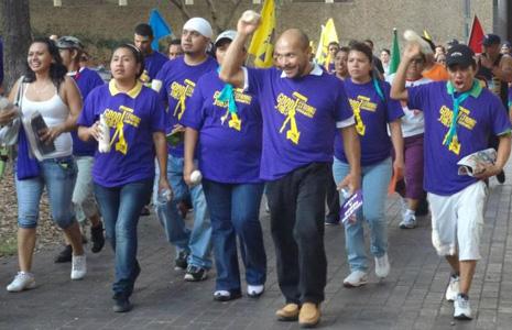 Houston church, NAACP support striking janitors