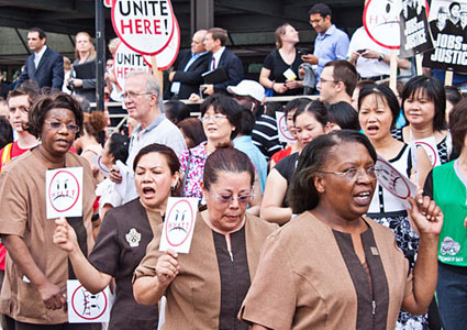 Hyatt continues attack on housekeepers