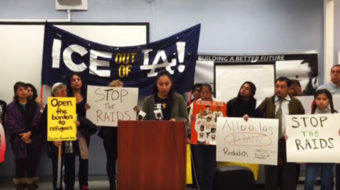 Video: Immigration activists demand action to stop ICE crackdown on children