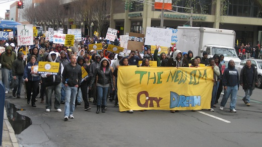 """""""Hoodies Up"""" march for Trayvon Martin"""