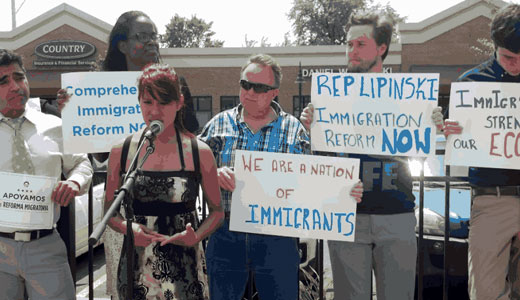 "Supporters urge passage of ""way overdue"" immigration reform"
