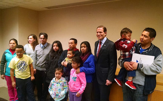 Sen. Blumenthal, immigrant families call to overturn Texas court decision