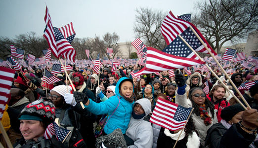 Inaugural address was a massive unity rally
