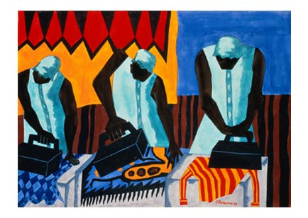 Poets honor 'migration' paintings of Jacob Lawrence