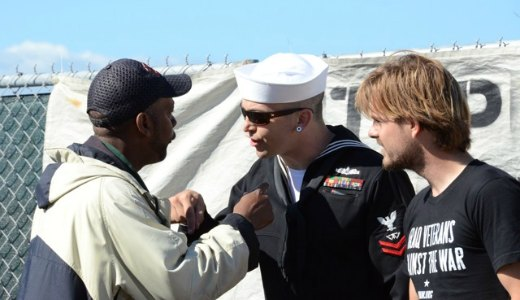 Antiwar veterans deploy to Fleet Week