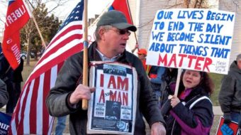 Video: Angry workers confront Wisconsin's governor