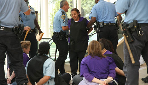 Supporters rally for striking Houston janitors in 17 cities