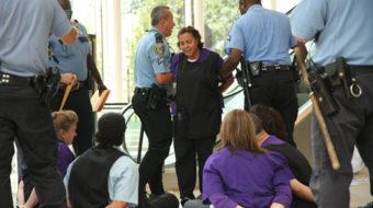 Janitors strike rocks Houston, forces employers to talk