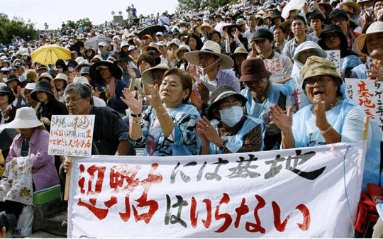Japan public opinion prevented hasty settlement of Futenma