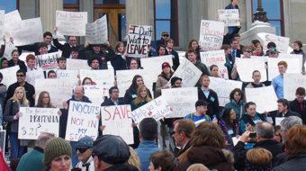 Montanans protest Republican assault on working families, environment