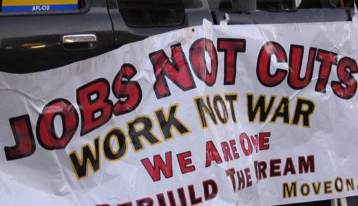 Human Rights Day demand: tax rich, jobs not cuts