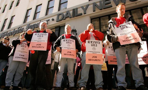 Layoffs continue as newspaper workers continue fight for fair wages, job security