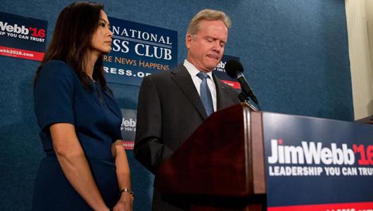Webb quits Democratic presidential race, mulls independent run