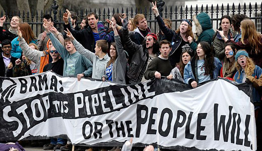 Hundreds arrested at White House in XL pipeline protest