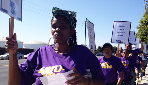 Long Beach caregivers strike for safer working conditions