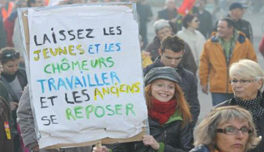 French workers angry about pensions and more