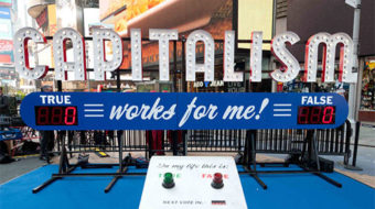 Art project asks: Is capitalism working for you?