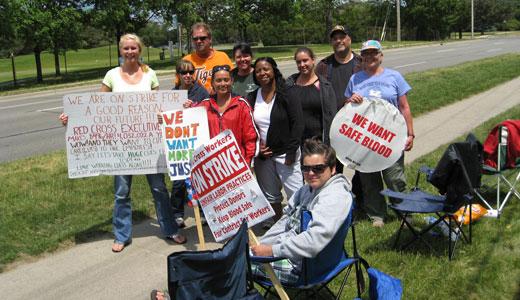 "Striking workers assail Red Cross ""union-avoidance plan"""