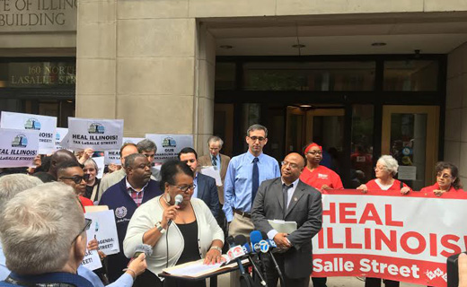 "Community packs hearing on ""LaSalle St"" financial transaction tax"