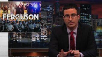 Comedian John Oliver confronts racism, police militarization in Ferguson