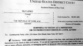 U.S. Communist Party challenges anti-Cuba lawsuit