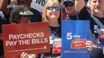 With disco, jazz, country beat, letter carriers rally to save Saturday delivery