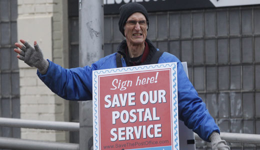 Letter carriers campaign to save postal service