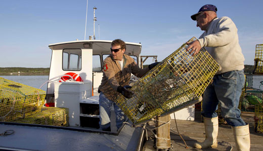 Maine lobstermen stop work