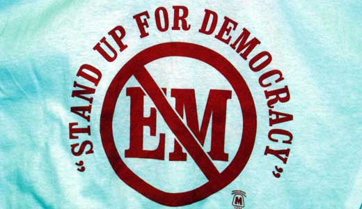 Emergency managers destroy democracy