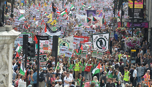 U.K.: 150,000 rally for solidarity with the people of Gaza