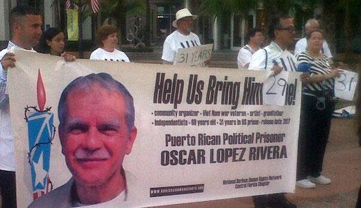Rally seeks freedom for Puerto Rican political prisoner Oscar Lopez Rivera