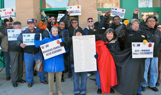 Steelworkers rally in solidarity with Mexican miners (with video)